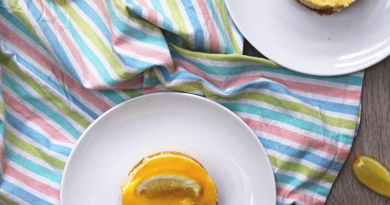 Entremets à la crème de mascarpone et au lemon curd