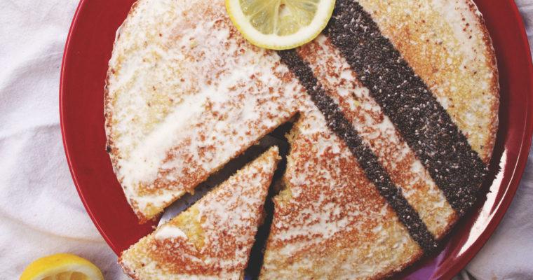 Layer cake citron & graines de chia, glaçage au creamcheese