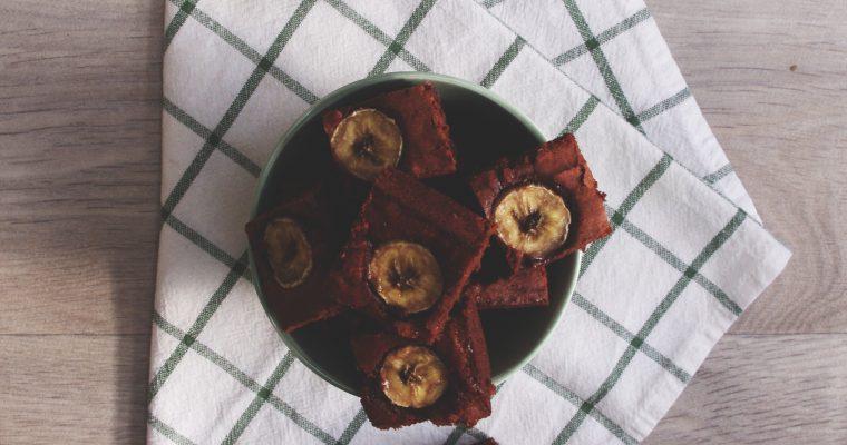 Brownie à la banane et aux noix de pécan